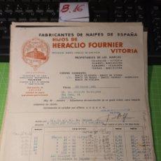 Facturas antiguas: HERACLIO FOURNIER. VITORIA 1941. Lote 246059135