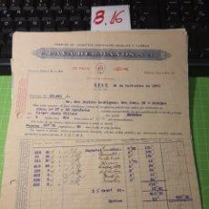 Facturas antiguas: PAYA HERMANOS. JUGUETES . IBI .1931. Lote 246158940