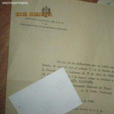 Facturas antiguas: REGAÑO VICENTE NOMBRAMIENTO MARID 1958 OFICIAL VOCAL EN ALICANTE MAGISTERIO. Lote 246715255