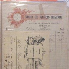 Facturas antiguas: FACTURAS -VIUDA DE IGNACIO ALLENDE E IGNACIO ALLENDE -BILBAO ALMACÉN DE HABAS Y ULTRAMARINOS 1900. Lote 247986680