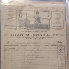 Facturas antiguas: FACTURA - JUAN M. GONZALEZ - ULTRAMARINOS FINOS -PORTUGALETE 1911. Lote 247986975