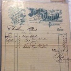 Facturas antiguas: FACTURA - COLONIALES Y FRUTOS DEL PAIS -JOSÉ DE URRESTI - BILBAO 1900. Lote 247987975