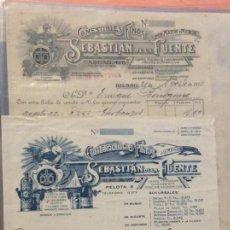 Facturas antiguas: FACTURAS - SEBASTIAN DE LA FUENTE -COMESTIBLES FINOS 1931. Lote 247989885