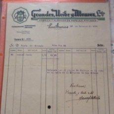 Facturas antiguas: FACTURA - BILBAO 1931 GRANDES URIBE Y ALVAREZ -FÁBRICA Y ALMACÉN DE PAPELES PINTADOS. Lote 248055640