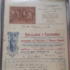 Facturas antiguas: FACTURAS - DELCLAUX Y COMPAÑÍA -TALLERES DE VIDRIERAS ARTÍSTICAS -BILBAO 1908- 1913. Lote 248061705