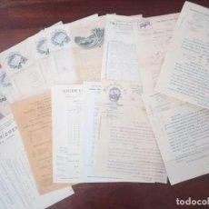 Fatture antiche: LOTE FACTURAS MUY ANTIGUAS VITORIA Y SAN SEBASTIÁN 17 PIEZAS. Lote 248257995