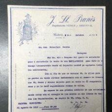Faturas antigas: MADRID , FACTURA DE 1924 PUBLICIDAD DEPILATORIO VENUS Y ORIENTAL , PRUNES.. Lote 250233335