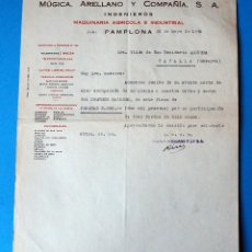Factures anciennes: ANTIGUA FACTURA: MÚGICA, ARELLANO Y COMPAÑÍA. PAMPLONA. AÑO 1948. Lote 251069935