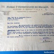 Factures anciennes: ANTIGUA FACTURA: FORJA Y FUNDICIONES DE BEASAIN ( GUIPÚZCOA). AÑO 1955. Lote 251723220