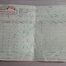 Facturas antiguas: 12-00093-ALBARAN AUTOBAZAR DEIMA A INESPAL S.L. 1989 -. Lote 252052315