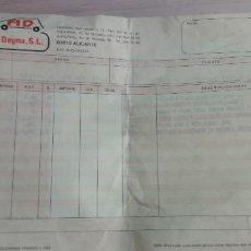 Facturas antiguas: 12-00094-ALBARAN AUTOBAZAR DEIMA A INESPAL S.L. 1989 --. Lote 252052465