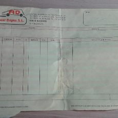 Facturas antiguas: 12-00095-ALBARAN AUTOBAZAR DEIMA A INESPAL S.L. 1989 -. Lote 252052590