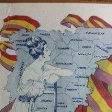 Facturas antiguas: FACTURA LITOGRAFÍA PORTAVELLA ZARAGOZA ALEGORÍA REPÚBLICA AÑO 1933 BIEN CONSERVADA Y ESCASA. Lote 252464835