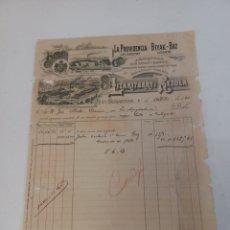 Faturas antigas: FACTURA DE FÁBRICA DE JABONES LIZARITURRY Y REZOLA SAN SEBASTIÁN 04/10/1900. Lote 252626870