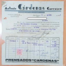 Facturas antiguas: FACTURA FÁBRICA DE SALAZONES ANTONIO CÁRDENAS CARRASCO. ISLA CRISTINA, HUELVA 1946. Lote 253808810