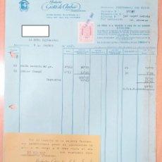 Facturas antiguas: FACTURA PRODUCTOS DE PERFUMERÍA GOTA DE AMBAR. BARCELONA 1947. Lote 253809740