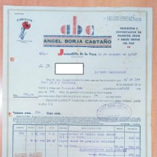 Facturas antiguas: FACTURA PRODUCTOR Y EXPORTADOR DE PIMENTÓN ÁNGEL BORJA CASTAÑO, JARANDILLA DE LA VERA, CÁCERES. 1947. Lote 253810045
