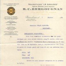 Facturas antiguas: DOCUMENTACIÓN VARIADA (REPUESTOS, FACTURAS...) DE LA CASA VEHICULOS BIADA, ELIZALDE Y Cª. Lote 253925120