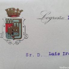 Facturas antiguas: LOGROÑO. BODEGAS FRANCO ESPAÑOLAS. ANTIGUA FACTURA 1925.. Lote 254010205