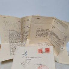 Facturas antiguas: CENSURA MILITAR 1938. GOBIERNO MILITAR DE SAN SEBASTIAN. CARTA CIRCULADA, SAN SEBASTIAN-TOLOSA.. Lote 254014125