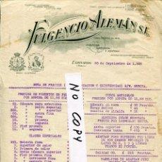 Fatture antiche: ESPINARDO(MURCIA)--FULGENCIO ALEMÁN S.L.(EL HUERTANO) PIMENTÓN-ALMENDRA Y AZAFRÁN- AÑO 1926. Lote 254907295