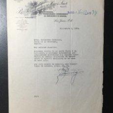 Facturas antiguas: BERNARDO FERNÁNDEZ Y HNOS. SAN JUAN PUERTO RICO , 1934 , IMPORTADOR VINOS DE JEREZ , CADIZ. Lote 254992505