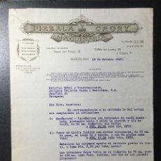 Facturas antiguas: BARCELONA 1925 , PIZZALA Y CRORY , MAQUINARIA. Lote 255340780