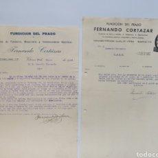 Facturas antiguas: FERNANDO CORTAZAR, FUNDICION DEL PRADO. ANTIGUAS FACTURAS VITORIA. AÑOS 30. Lote 255512820