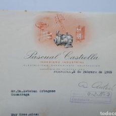 Factures anciennes: PASCUAL CASTIELLA. INGENIERO INDUSTRIAL. PAMPLONA. ANTIGUA FACTURA 1955.. Lote 255576910