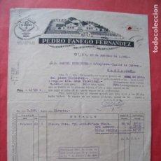 Facturas antiguas: PEDRO FANEGO FERNANDEZ.-FABRICA DE PIEDRAS DE AFILAR.-EL GLOBO.-FACTURA.-GIJON.-AÑO 1948.. Lote 257878180