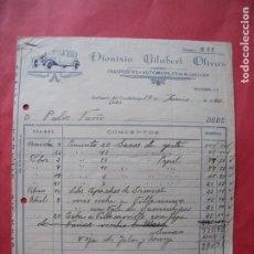 Facturas antiguas: DIONISIO GILABERT OLIVAS.-TRANSPORTES.-AUTOMOVILES.-FACTURA.-SORIHUELA DE GUADALIMAR.-JAEN.-AÑO 1936. Lote 257881730