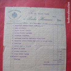 Facturas antiguas: PRADOS HERMANOS.-BAZAR ESPAÑOL.-PROVEEDORES DE LA REAL CASA.-FACTURA.-MALAGA.-AÑO 1908.. Lote 257888645