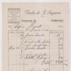 Fatture antiche: FACTURA. ALMACÉN DE LOZA, CRISTAL, VIUDA DE J. SAGARRA. PAMPLONA, 1916 NAVARRA. Lote 257986925