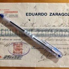Facturas antiguas: BARCELONA- FACTURA ACEITES LUBRIFICANTES- EDUARDO ZARAGOZA 1910. Lote 261251615