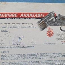 Factures anciennes: AGUIRRE Y ARANZABAL, FABRICA DE ARMAS DE FUEGO. EIBAR. FACTURA 1949.. Lote 261915670