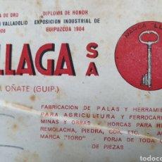 Facturas antiguas: FORJAS DE ZUBILLAGA. OÑATE. FACTURA 1954.. Lote 261926485