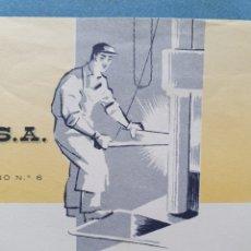 Facturas antiguas: FORJAS DE ZALDIBAR. VIZCAYA, ZALDIVAR. FACTURA 1960.. Lote 261926950