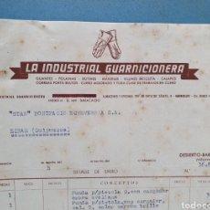 Facturas antiguas: LA INDUSTRIAL GUARNICIONERA. DESIERTO, BARACALDO. VIZCAYA. FACTURA 1952.. Lote 261927415