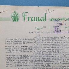 Facturas antiguas: FRANAL ORFEBRERIA. AMURRIO. ALAVA. FACTURA 1950.. Lote 261928580