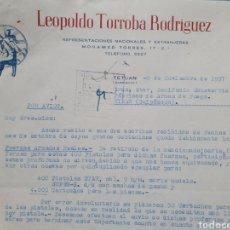 Facturas antiguas: LEOPOLDO TORRALBA RODRIGIEZ. TETUAN. MARRUECOS. FACTURA 1957.. Lote 261987580