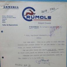 Facturas antiguas: ARMERIA JOAQUIN CRUMOLS. FIGUERAS..FACTURA 1949.. Lote 261988125