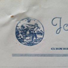 Facturas antiguas: JOSE MORENO GARCIA. ARMERIA. ORIHUELA. FACTURA 1946.. Lote 261988710