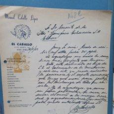 Facturas antiguas: MANUEL CABELLO LOPEZ. GUARNICIONERIA EL CABALLO. SIDI IFNI. FACTURA 1952.. Lote 261989415