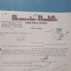Facturas antiguas: ARMERIA BADILLO. RONDA. MALAGA. FACTURA 1955.. Lote 261989935