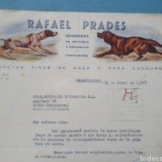 Facturas antiguas: RAFAEL PRADES. EXPENDEDURIA DE POLVORAS Y EXPLOSIVOS. GRANOLLERS. FACTURA 1957.. Lote 261990465