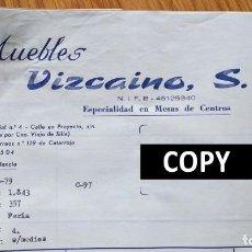 Facturas antiguas: FACTURA CON 5 DOCUMENTOS. MUEBLES VIZCAINO. ALBAL. VALENCIA, 1979. SELLOS TASAS. Lote 262142490