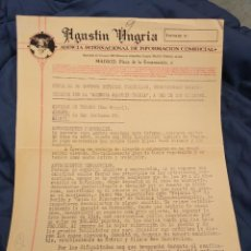 Faturas antigas: AGUSTÍN UGRIA. AGENCIA INTERNACIONAL DE INFORMACIÓN COMERCIALMADRID.. Lote 262176065