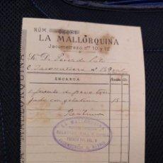 Facturas antiguas: LA MALLORQUINA JACOMETREZO 10 Y 12 1890 MADRID.. Lote 262181480