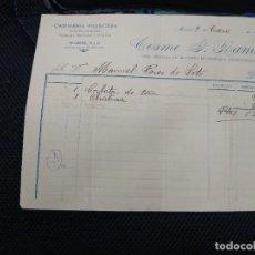 Facturas antiguas: CAMISERÍA FRANCESA. COSME Y RAMOS. MADRID.. Lote 262182165