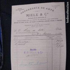 Facturas antiguas: ORFEBRERÍA DE ARTE MIELE. MADRID.. Lote 262182500